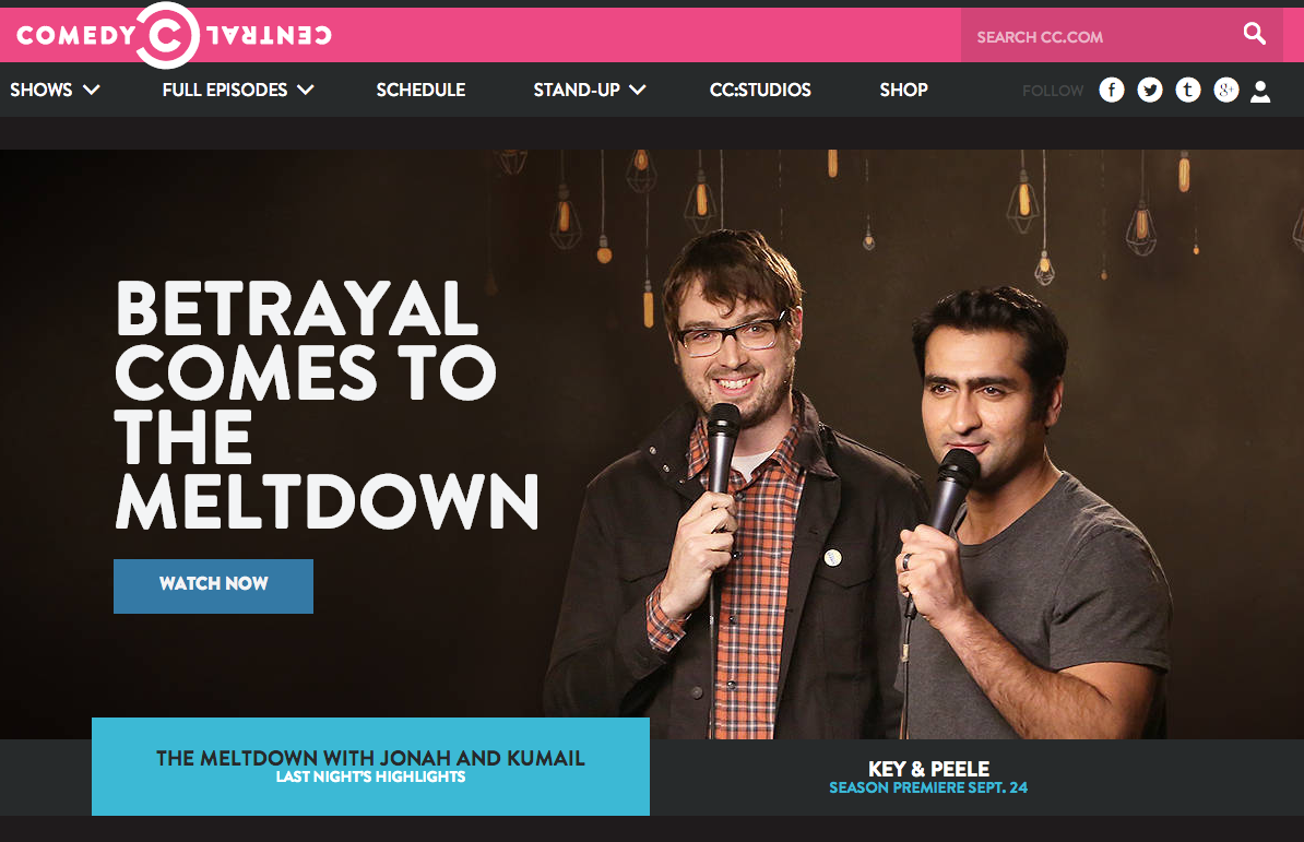 Comedy Central Website