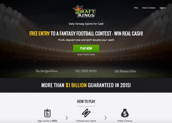 draft kings home page